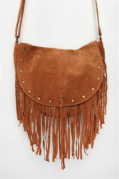Outfitters Turquoise Suede Bag by Ecote Suede Stud Fringe Hobo Bag Urbanoutfitters Shoes
