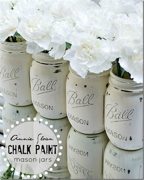 chalk paint jars all things jars debbiedoos
