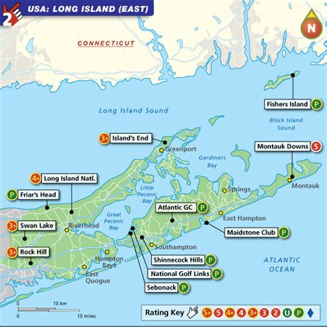 usa map island island east usa golf map with top golf courses and