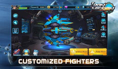 mod apk game arcade iron mission apk v1 0 mod unlimited gears gems energy