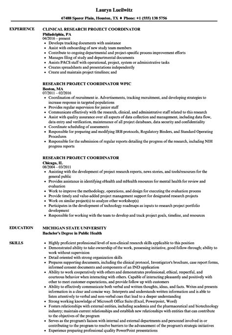 project coordinator resume sample resume badak