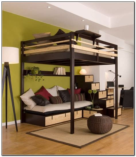 ikea full size loft bed full loft bed with desk ikea beds home design ideas