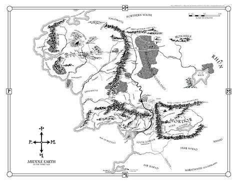 printable map middle earth printable map of middle earth cvln rp