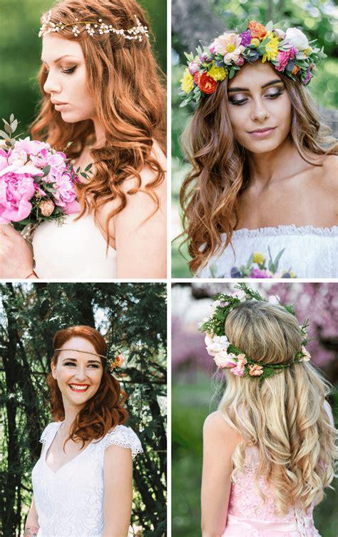 Brautfrisur Offen Blumen by Brautfrisuren Mit Blumen 25 Ideen F 252 R Blumen Im Haar