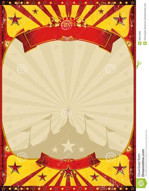 circus vintage poster big top stock illustration