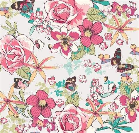 floral seamless pattern vector depositphotos 23226784 seamless vintage flower pattern