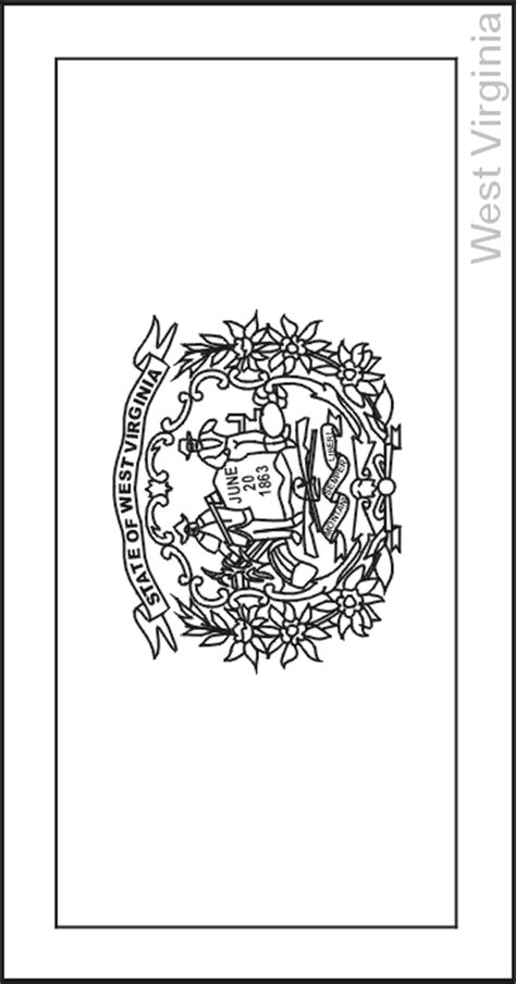 West Virginia State Flag Coloring Pages Usa For Kids Virginia State Flag Coloring Page