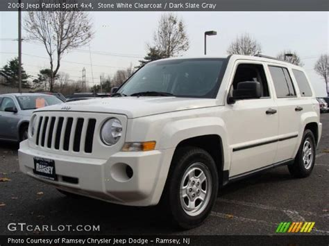 white jeep patriot 2008 white clearcoat 2008 jeep patriot sport 4x4