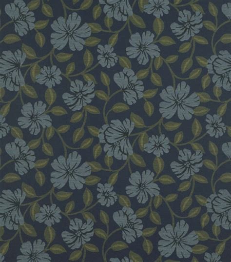 blue home decor fabric home decor upholstery fabric crypton hibiscus bloom midnight blue jo