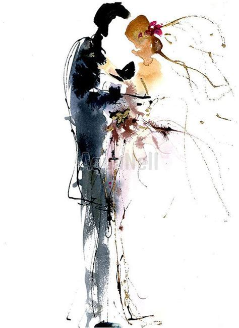 17 Best images about wedding watercolor illustrations ? on