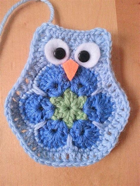 crochet owl motif pattern free crochet african flower owl my for crochet animals
