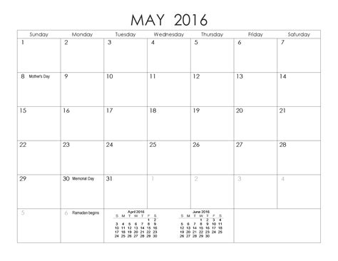 weekly calendar 2016 excel pdf word may 2016 blank templates pdf word excel printable