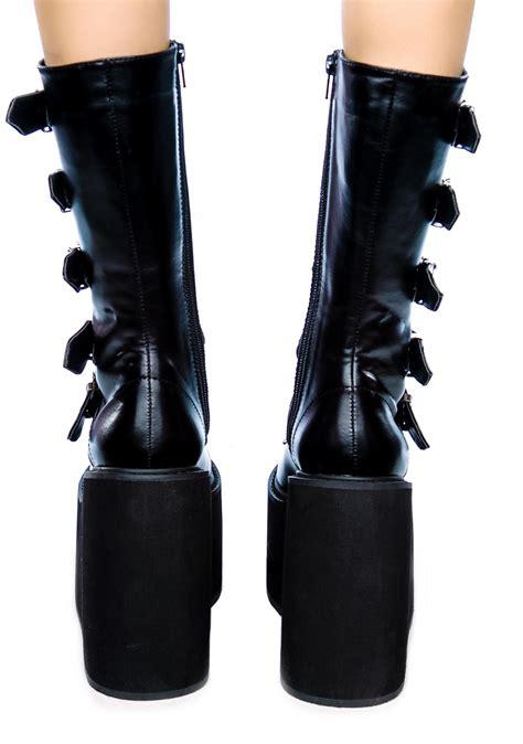 demonia swing boots demonia swing platform boots dolls kill