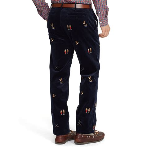 Polo Ralph Laurenpants With Cotton by Lyst Polo Ralph Classic Fit Embroidered Pant In