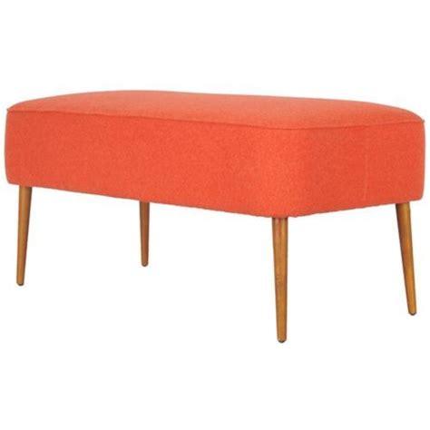 retro bench seat retro wool orange bench seat footrest contemporary