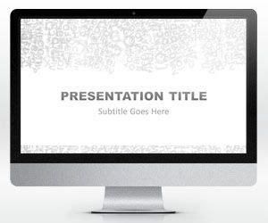 Free Widescreen Gray Alphabet Powerpoint Template Free Powerpoint Templates Slidehunter Com Widescreen Presentation Templates