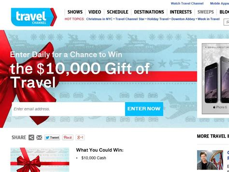 Travel Channel Sweepstakes Rules - travel channel gift of travel sweepstakes sweepstakes fanatics
