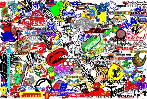 wallpaper stickers jdm sticker bomb hd images