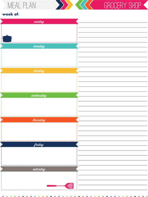 Iheart Organizing My 2013 Daily Planner Daily Meal Plan Template