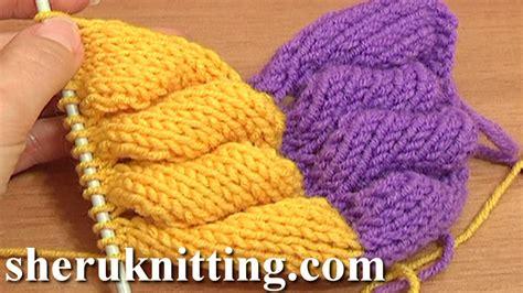3d knit 3d knit wheat ear stitch pattern tutorial 9 part 1 of 2