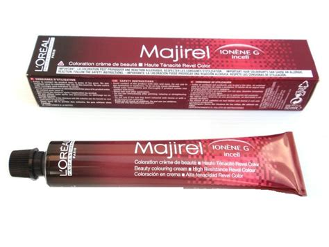loreal majirel permanent creme hair color label loreal majirel ionene g incell permanent creme color 7 1 7b 1 7 oz ebay