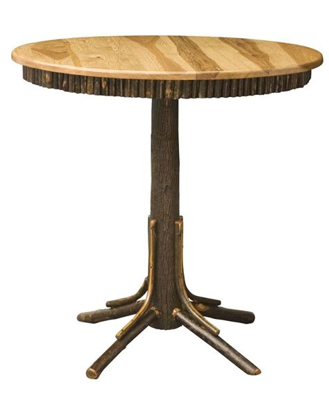 Rustic Bar Table Amish Rustic Hickory Pub Table