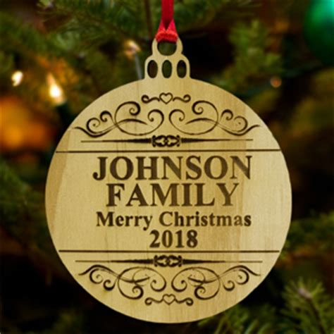custom wood ornaments personalized wooden laser engrave ornaments