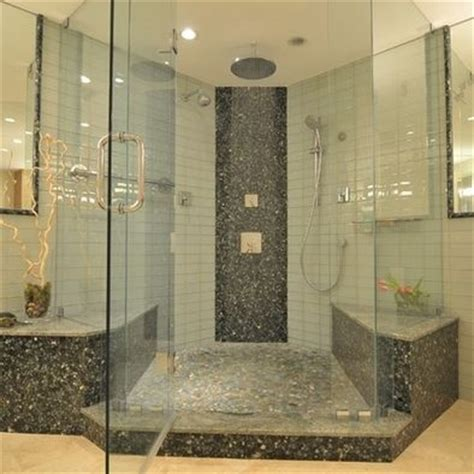 river rock bathroom river rock shower house stuff pinterest