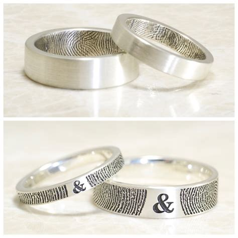 brent jess custom handmade fingerprint wedding rings
