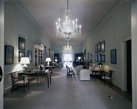 white house second floor kn c21411 second floor center hall of the white house john f kennedy presidential