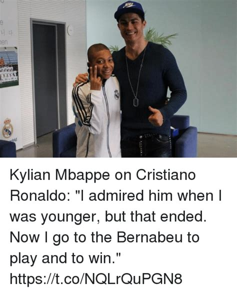kylian mbappe on cristiano ronaldo kylian mbappe on cristiano ronaldo i admired him when i