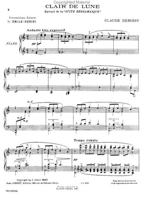 debussy clair de lune mp sheet music claude debussy clair de lune piano solo