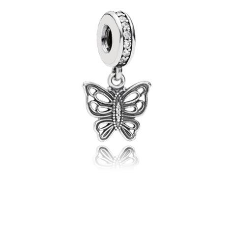 Butterfly Silver Dangle With Cubic Zirconia P 173 pandora jewelry new 2014 charms storelocatoronline