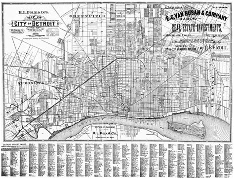 printable road map of detroit detroit street map 1898 detroitography