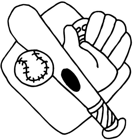 baseball coloring pages baseball bats balls and gloves