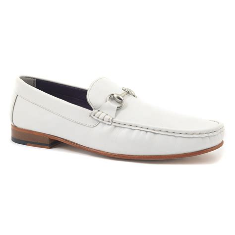 white loafers shoes find mens white loafer buckle loafer gucinari shoes