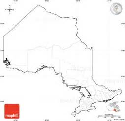 Blank Ontario Map by Blank Simple Map Of Ontario Cropped Outside No Labels