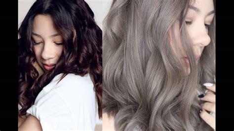 Ash Gray Hair Color L