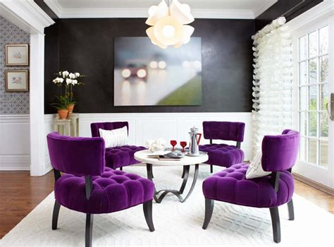 purple living rooms decor your living room with purple hues