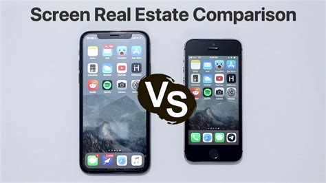iphone x vs iphone 5s screen real estate comparison