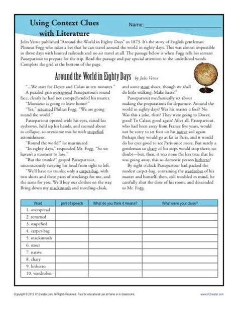 Vocabulary Garden Answer Key Best 25 Context Clues Activity Ideas On 5th