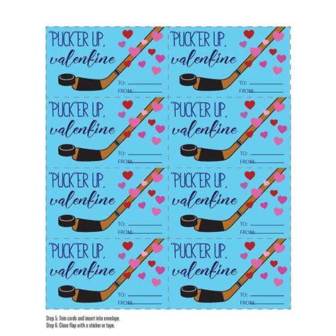 Hockey Valentines Cards Printable