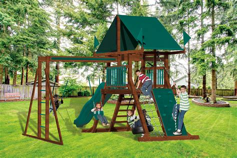 vinyl backyard playsets sk 10 mountain climber best kids backyard playset