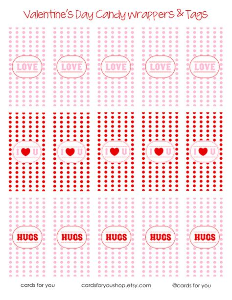 Valentine Candy Wrappers Tags Free Printable Of The Month M M Mini Wrapper Template Free