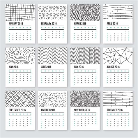 how to schedule with doodle calendar 2016 in doodle style free