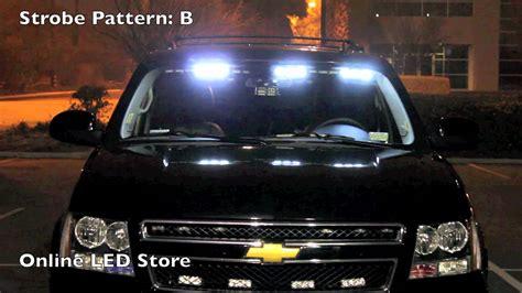 how to install headliner emergency lights 54 led front headliner emergency strobe pov lights amber