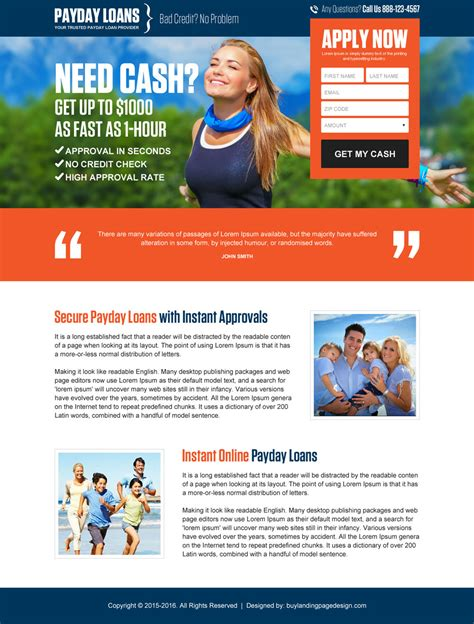 mortgage landing page templates converting payday loan landing page design that converts