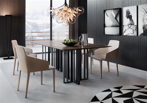spitalfields modern rectangular wood large dining table by