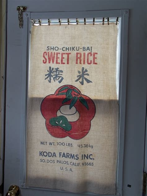 Feed Sack Curtains Curtains Sacks And Rice On Pinterest