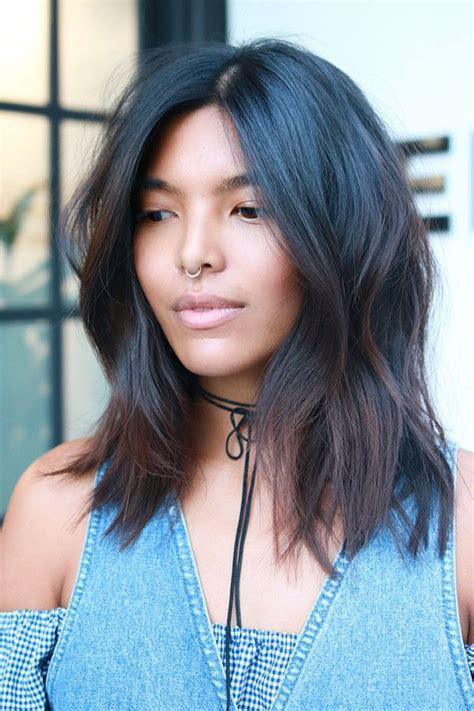 layered lob hairstyles best 25 layered lob ideas on pinterest